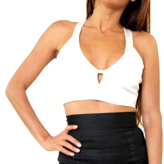 Sleeveless Designer Crop Top, three variations Get your Sleeveless Designer Crop Top available in 3 variations of Black with Back Cutout, Sand Sweet Heart V-Back, and White Luxury Back. All occasion top $46.65