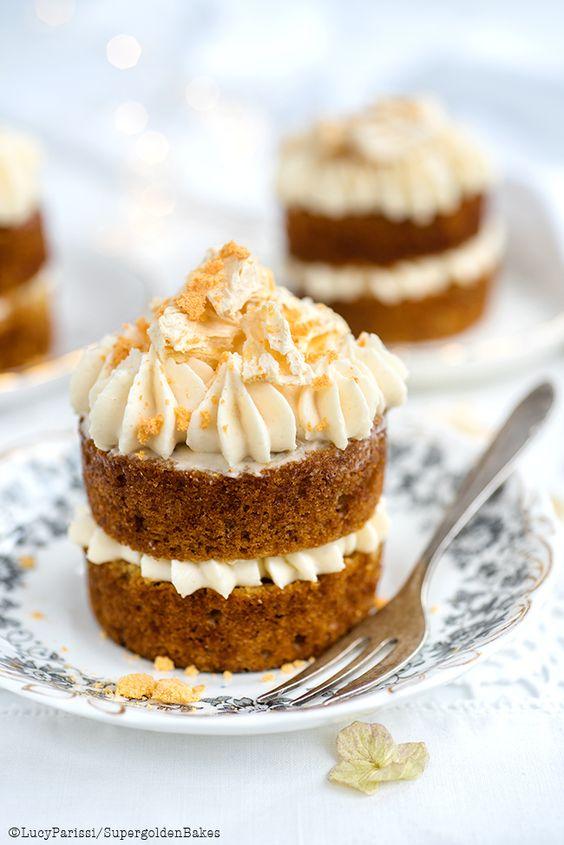 Mini Hummingbird Cakes with Cream Cheese Pineapple frosting   supergolden bakes