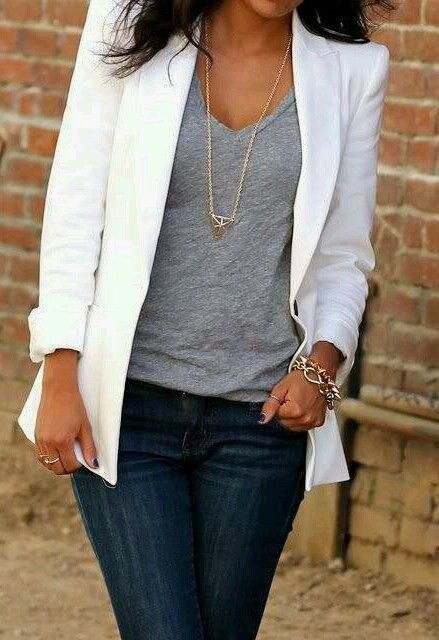 White Jones New York Lycra Blazer Kim K Kardashian Style NEW With Tags Size L in Clothing, Shoes & Accessories, Women's Clothing, Suits & Blazers | eBay