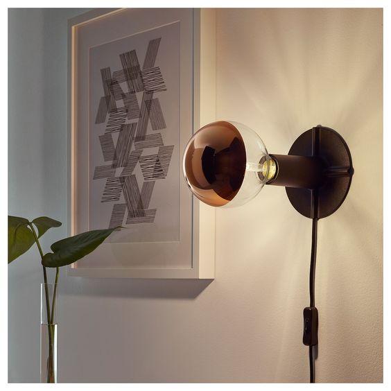 Sillbo Led Leuchtmittel E27 370 Lm Rund Kopfverspiegelt Rosegoldfarben Ikea Deutschland Table Lamp Base Decorative Light Bulbs Lamp Bases