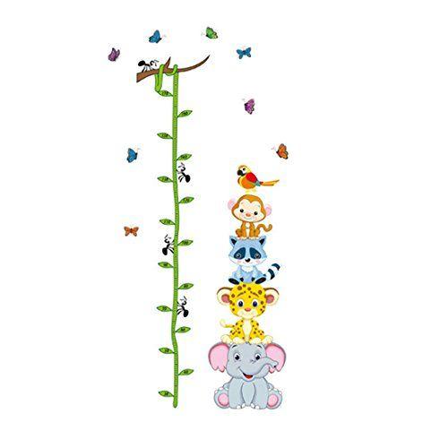 Multicolor Transer DIY Cartoon Panda Height Ruler Height Sticker Measure Chart Growth Chart DIY Wall Stickers