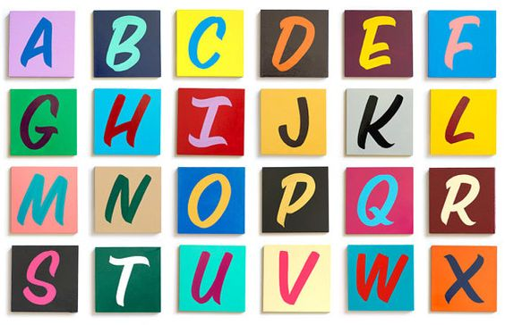 """4"""" Hand Painted Wood Alphabet Letters"""