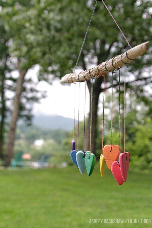 Rainbow Heart Wall Hanging Crayola Model Magic Summer Project