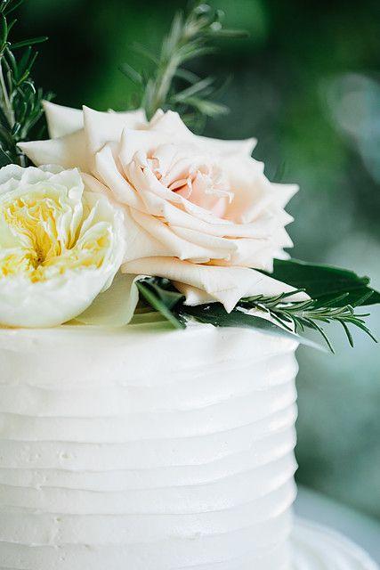Bee, Leaves N' Love | Wedding Florist | Flowers | Grass Valley CA Alyssia B Photography Sonoma weddings,  cake flowers, Sahara blush roses, white garden roses, and rosemary cake topper