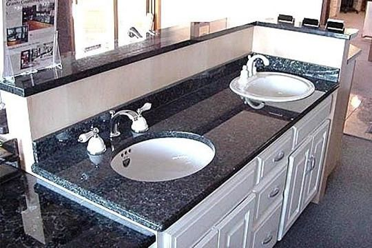blue pearl granite w white cabinet bathrooms pinterest