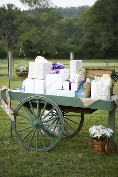 Rustic Wedding Gifts table                                                                                                                                                      More