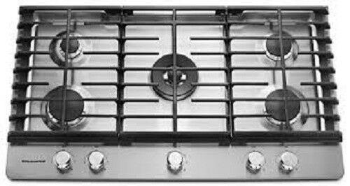Kitchenaid Kcgs556ess 36 Inch Wide Gas Cooktop With 20k Btu Professional Dual Ri 883049330297 Ebay Gas Cooktop Stainless Steel Cooktop Stainless Steel Oven