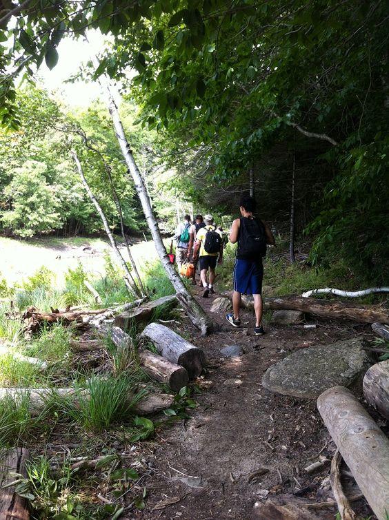 the ledges hiking trail harriman reservoir vermont YNA trip clothing optional