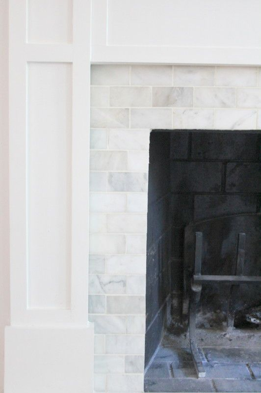 Tile Over Brick Fireplace Surround Collection