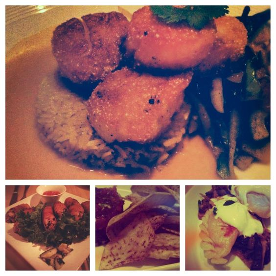 Pacific Rim by Kana  - Quinoa-Crusted Scallops  - Saigon Spring Rolls  - Tuna Tartare with aro Chips  - Taro-Mushroom Pierogi