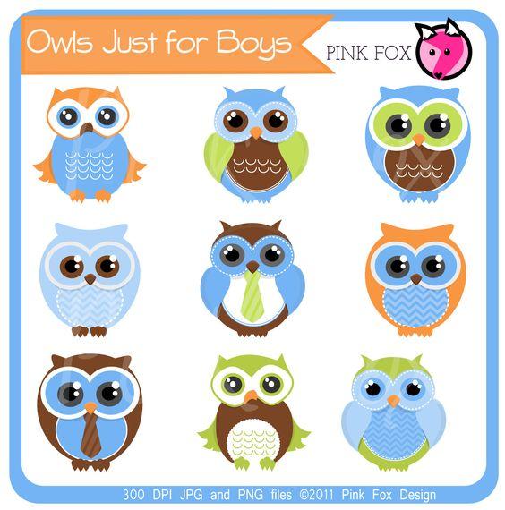 instant download cute owl clipart boy clip art bird graphic rh pinterest com