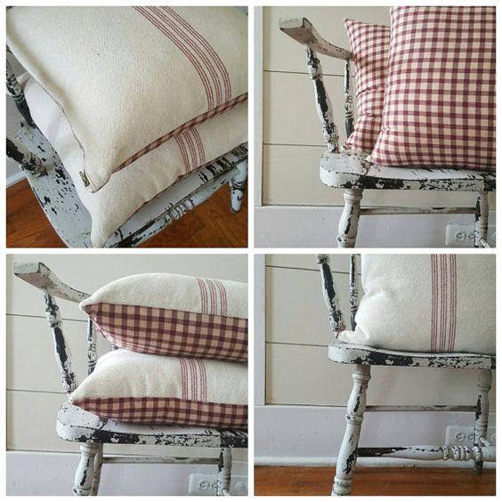 Funda de almohada saco de grano de 16 x 16 con por SweetAnnieAcres