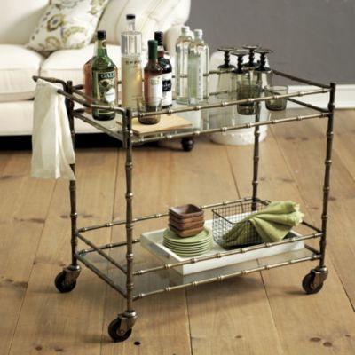 Bar cart for library