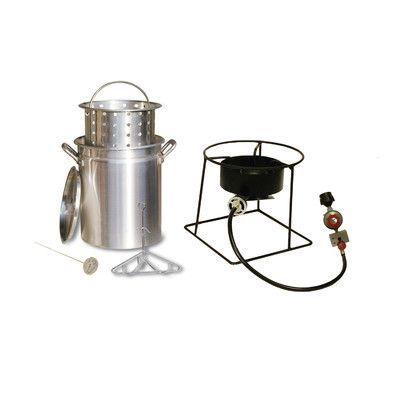 King Kooker Turkey Fryer and Steamer Outdoor Cooker Package