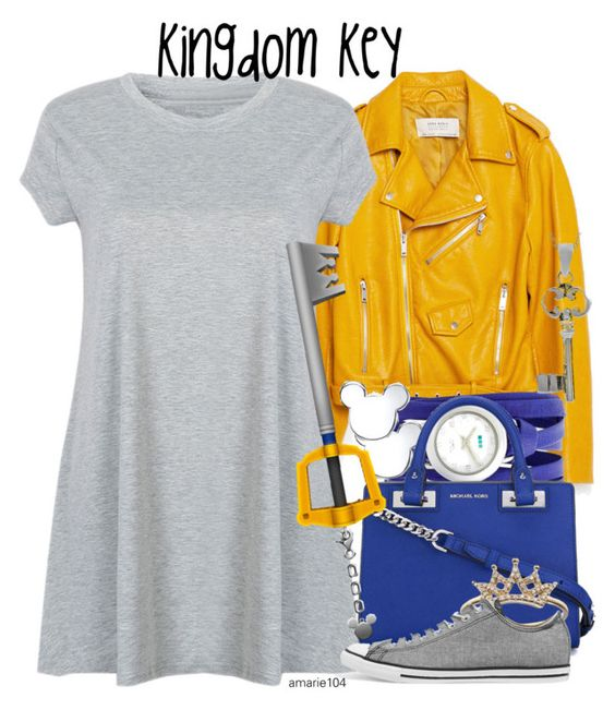"""""""Kingdom Key"""" by amarie104 ❤ liked on Polyvore featuring Zara, La Mer, Belk Silverworks, MICHAEL Michael Kors, Converse and Journee Collection"""