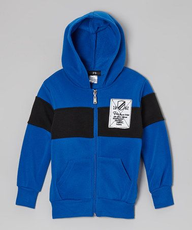 Look what I found on #zulily! Blue Color Block Zip-Up Hoodie - Toddler #zulilyfinds