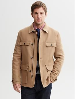 What: @Banana Republic Camel Wool Utility Coat, Who: The New Yorker, Price: $250