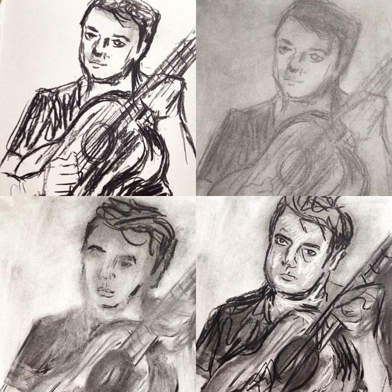 """Diva Diana on Twitter: """"37-100 charcoal drawing ➖ inspired by Auerbach artist http://t.co/87X4oWDnhk"""""""