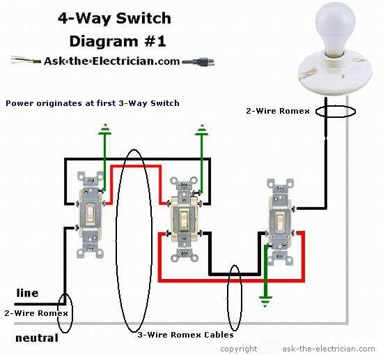 How To Wire A 4 Way Switch Light Switch Wiring Light Switch