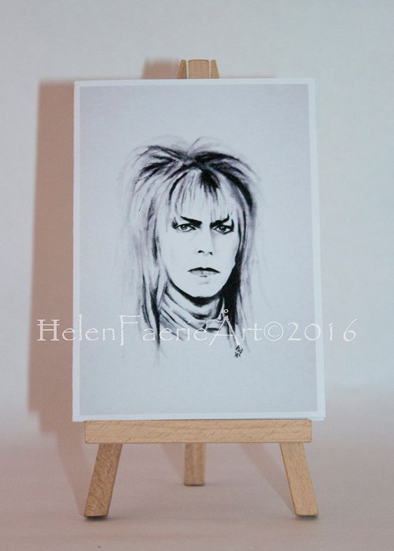 Blank Greeting Card (4 x 6ins) 'Jareth, The Goblin King' Faery, The Labyrinth, Magical with white envelope and self seal acetate sleeve by HelenFaerieArt on Etsy