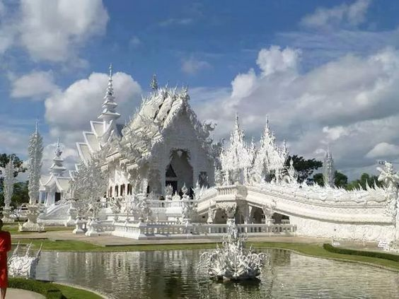 White temple in Thailand. A masterpiece!