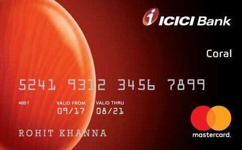 Icici Bank Coral Credit Card Credit Card Apply Credit Card