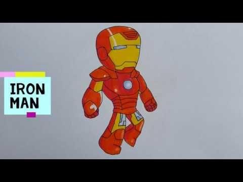 วาดไอร อนแมน ระบายส ไม Iron Man การสอน