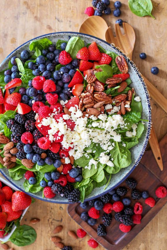 Fruit & Nut Spinach Salad | Recipe | Spinach Salads, Spinach Salad ...