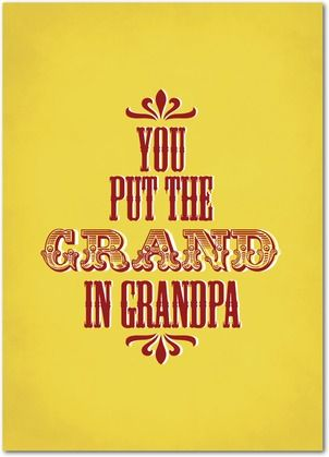 Isn't He Grand - Father's Day Greeting Cards - Design Collective - Mustard - Yellow : Front