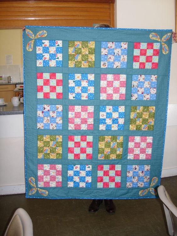 Quilts made for Nelsons Journey charity supporting bereaved children. simple 12 patch. Made by Jennifer
