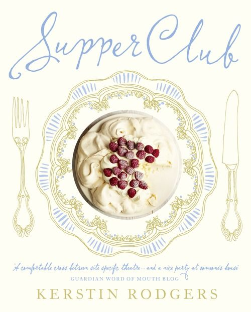 "Book cover for ""Supper Club"" by Kerstin Rogers - charming  combination of illustration & photography"