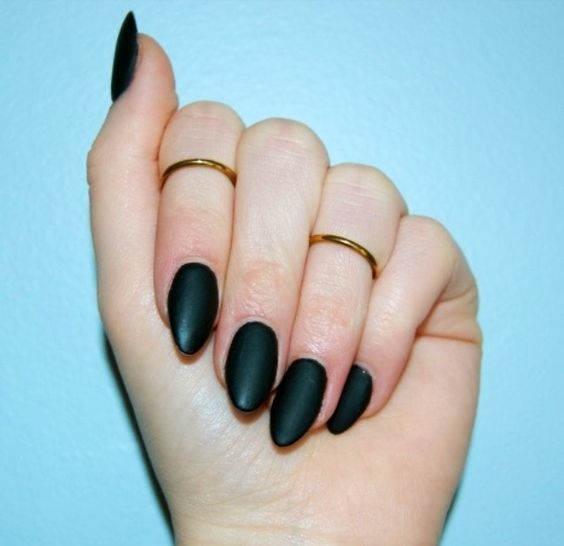 Is this a gel nail, or is it an Acrylic nail with black matte powder ...