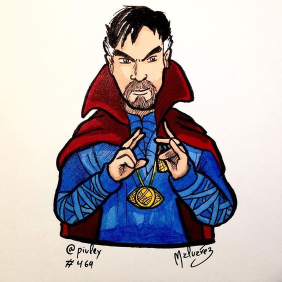 #DoctorStrange  I dont really know the character never read any of his comics but I read some team-ups with Spiderman and Daredevil. Benedict Cumberbatch rules!  No conozco mucho el personaje nunca leí ninguno de sus cómics pero sí que leí algunas apariciones suyas en Spiderman y Daredevil. Benedict Cumberbatch mola!  #doctor #strange #marvel #marvelcomics #comics #benedict #cumberbatch #film #movie #magician #red #blue #agamoto