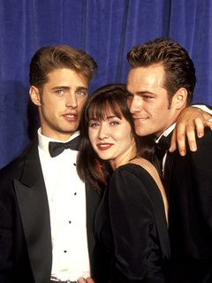 Jason Priestley, Shannen Doherty and Luke Perry