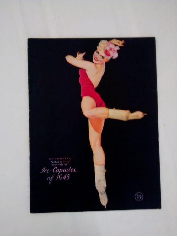 Pin Up Girls  1945 Ice Capades Program  Petty by thelongacreflea, $19.00
