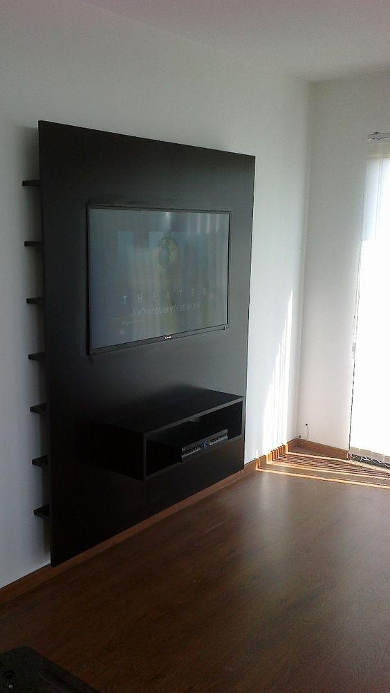 Paneles para tv plana buscar con google mueble de tv pinterest tvs and search - Mueble tv estrecho ...