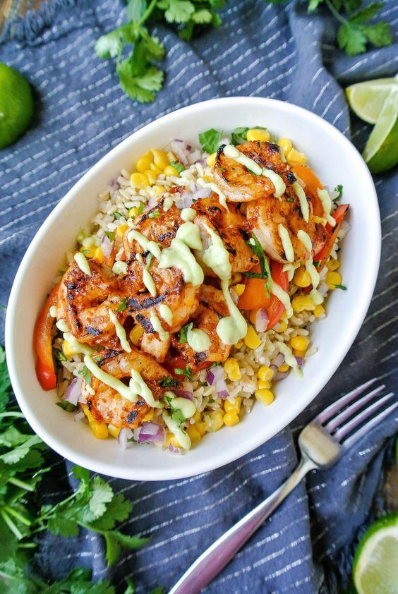 Chiptle Shrimp Burrito Bowl