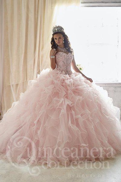 tips katie o ma... Light Pink And Gold Quinceanera Dresses
