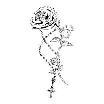 Adesivos para parede Crucifixo na Rosa - Adesivos Dicolar