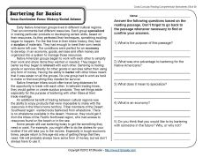 Printables Free Reading Worksheets For 5th Grade bartering for basics comprehension free printables and economics awesome reading wrkshts grades 1 10 challenging ss reading5th grade