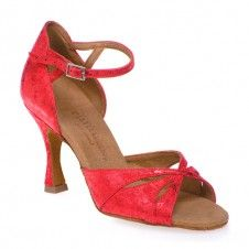 R385 - rummos Tanzscuhe Damen - Leder Red Fantasy