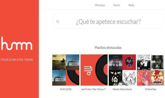 Humm es una nueva opción para escuchar la mejor música, cuenta con millones de canciones, directamente en una página de nuestro navegador.
