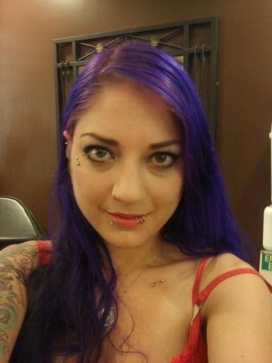 Anti eyebrow snakebites spider bites nose piercing purple for Jobs that allow piercings tattoos and colored hair