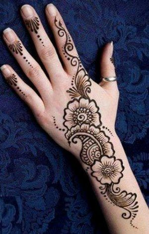 New EID Arabic Mehndi Designs for Back Hand Pakistani Indian Simple