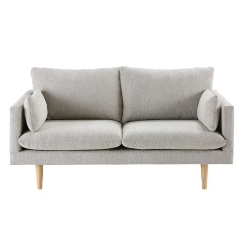 Fixed Sofas 2 Seater Sofa Sofa Light Gray Couch