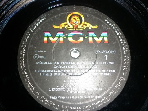 lp doutor jivago - 1966 - mgm records