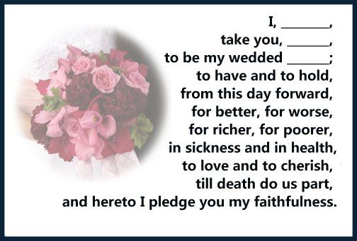 What Are The Wedding Vows In Vowarriage On