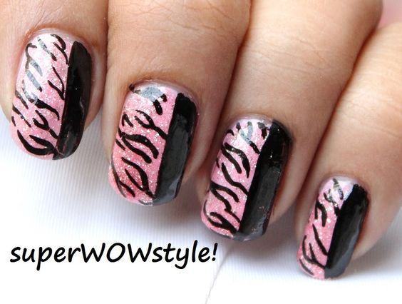 Pink Tiger Nail Designs ✦ DIY Nail Art Ideas ✦ Nail Art Tutorial
