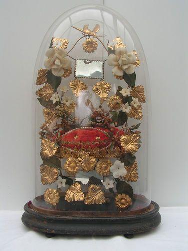 Globe DE Mariage Mariée Napoléon III Complet Avec Coussin ET Couronne