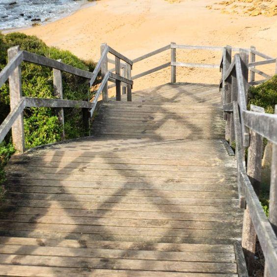 SELFMADE  #bellsbeach #torquay #beach #stairs #winter by raspberry_1411 http://ift.tt/1KnoFsa